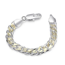 Wholesale Romantic Shrimp buckle Silver Bracelet TGSPB006