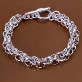 Wholesale Classic Silver Round Bracelet TGSPB073