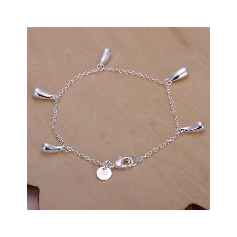 Wholesale Romantic Silver Water Drop Bracelet TGSPB317