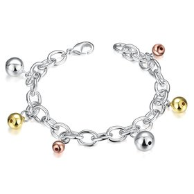 Wholesale Trendy Hot Sell Silver Bell Bracelet TGSPB027