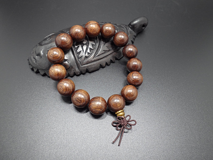 Wholesale Buddha Jewelry Natural authentic gold sandalwood beads bracelet for men and women Christmas Gift VGB039 0