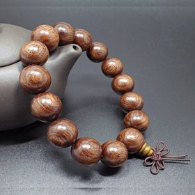 Buddha Jewelry Natural authentic gold sandalwood beads bracelet for men and women Christmas Gift