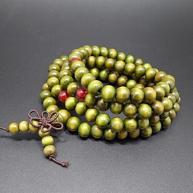 Fashion Natural Sandalwood beads Buddhist prayer wood bracelet japa malas necklace Tibetan meditation Bracelets