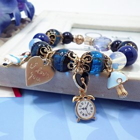 Wholesale Hot Fashion Unlimited Bangle Bracelets Charm Heart Flower blue Crystal  Beaded Bracelet For Women Jewelry 2020 VGB084
