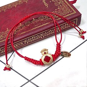 Wholesale Lucky Gold cute animals Red Braided Bracelet Adjustable Fashion Jewelry Handmade Braid Knot Friendship Bracelets Love Gift VGB094