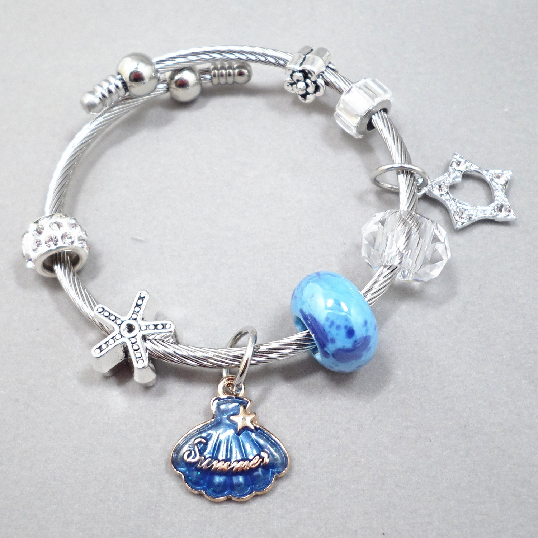 Wholesale Vintage Adjustable Crystal Beads Tassel pendant Bracelet Set Bohemian Charm Bracelets Handmade Jewelry Women Gifts  VGB098 2