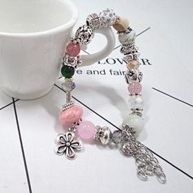 Vintage Adjustable Crystal ceramic Beads Tassel pendant Bracelet Set Bohemian Charm Bracelets Handmade Jewelry Women Gifts