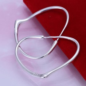 Trendy Silver plated Geometric Hoop Earring For Woman Fashion Party Jewelry
