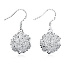 Wholesale Romantic Silver Ball Dangle Earring  Indian Jewelry Vintage Bohemian Earrings Valentines Day Gift  TGSPDE208