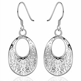 Wholesale European and American fashion earrings Vintage Court geometric pattern Dangle Earrings For Women Engagement Wedding Jewelry TGSPDE054