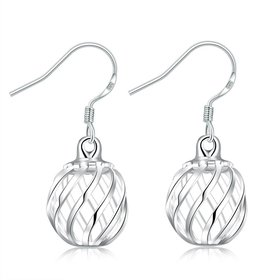 Wholesale Romantic Silver Round Dangle Earring unique design wholesale jewelry from China TGSPDE121
