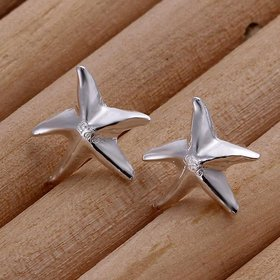 Wholesale Cute Starfish Stud Earrings for Women Silver Fashion Earings Studs Korean Design Jewelry TGSPE133