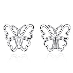Wholesale Fashion earrings from China Butterfly shape Small Hoop Earring For Girls Wome Beautiful Jewelry   TGSPE071