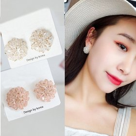 Wholesale Fashion Women Lady Elegant Clover Flower Crystal Stud Earring  summer new style earrings For Women Girl Jewelry VGE002