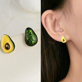 Wholesale New Arrival Fashion Green Avocado Drop Earrings for Women Girls Cute Stud Earrings  Fashion Jewelry VGE006