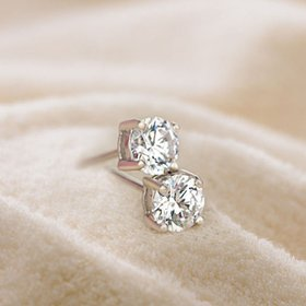 Wholesale Classical Popular Style Stud Earrings for Women High Quality Clear White Zircon Stone Luxury earrings VGE024