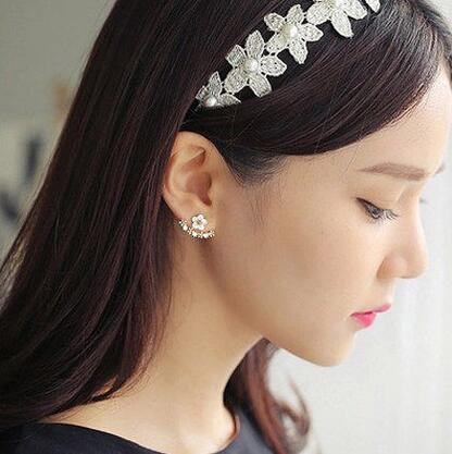 Wholesale Fashion Simulated Pearl Earrings Cute Cherry Blossoms Flower Stud Earrings for Women Blossoms Earrings Jewelry VGE039