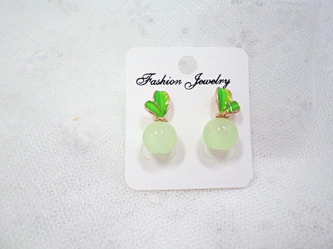 Wholesale Korean Style Leaves Earrings For Women Fashion Stylish Sweet Cute Stud Earrings Jewelry VGE045 0