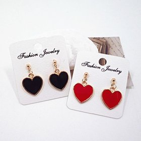 Wholesale New simple lovely heart stud earrings for women gold color personality stud earrings girl fashion jewelry gifts VGE064