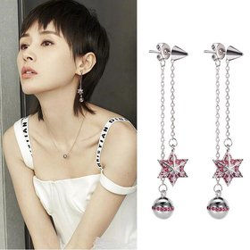 Wholesale Crystal Vintage Star Women Dangle Earrings Asymmetric Star Girl With Long Earrings For Women Drops Earrings Tassel Earrings VGE084