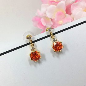 Wholesale Fashion Silver 925 Women Earrings jewelry Circular Ruby Zircon Gemstones Drop Earring Ornaments for Wedding Party VGE090