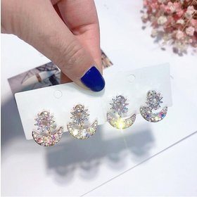Wholesale New fashion star woman's store earrings European and American fashion exaggerated sun and moon female models jewelry VGE123