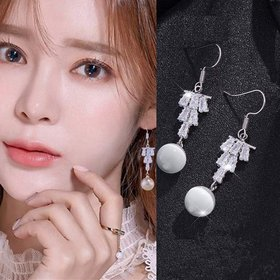 Wholesale Fashion Cubic Zircon Drop & Imitation Pearl Dangle Earrings For Women Bridesmaid Wedding Party Jewelry VGE176
