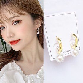 Wholesale jewelry form China Creative Big Pearl Earrings For Women 2020 New Jewelry Simple Elegant Party Earings Wholesale