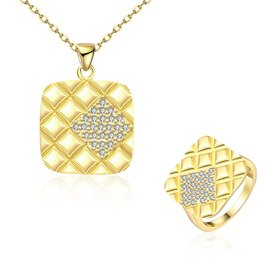 Trendy 24K Gold CZ Jewelry Set
