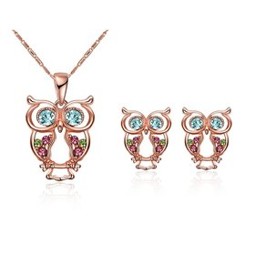 Wholesale Classic Titanium Animal Crystal Jewelry Set TGGPJS117