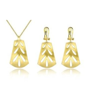 Wholesale Classic Gold Plant Jewelry Set TGGPJS095