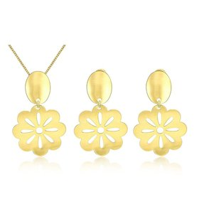 Wholesale Classic Gold Plant Jewelry Set TGGPJS099