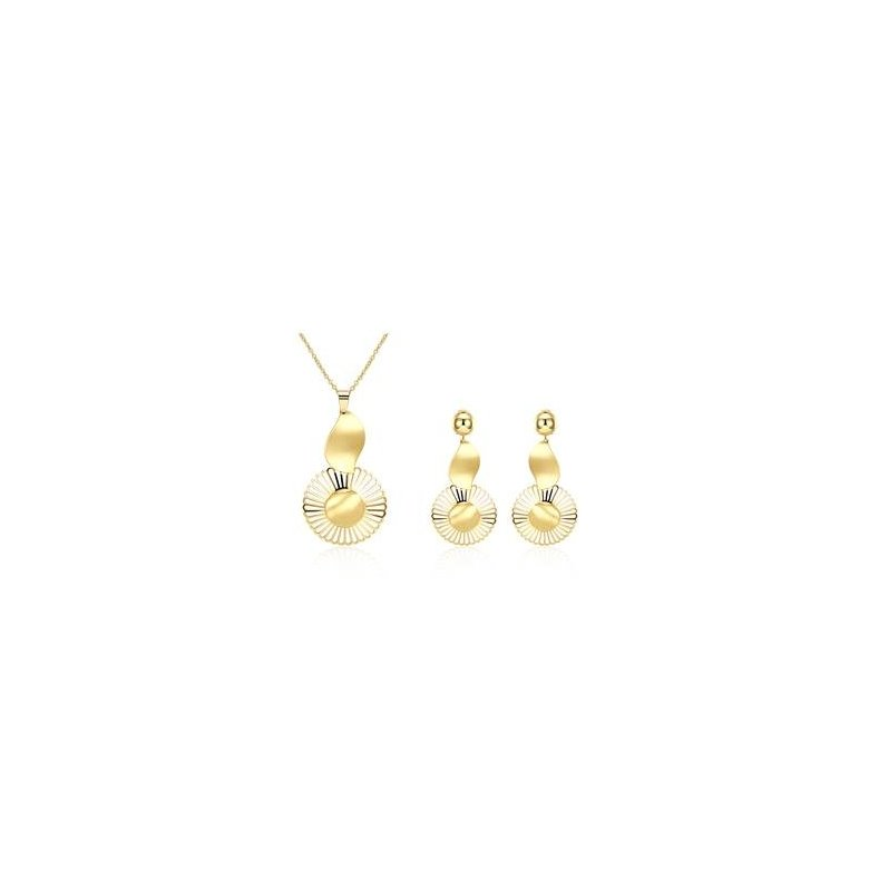 Wholesale Classic Gold Plant Jewelry Set TGGPJS133