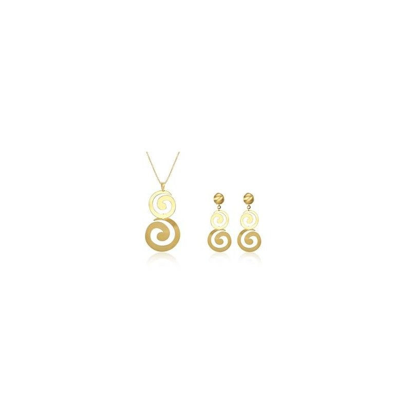 Wholesale Classic Gold Round Jewelry Set TGGPJS138