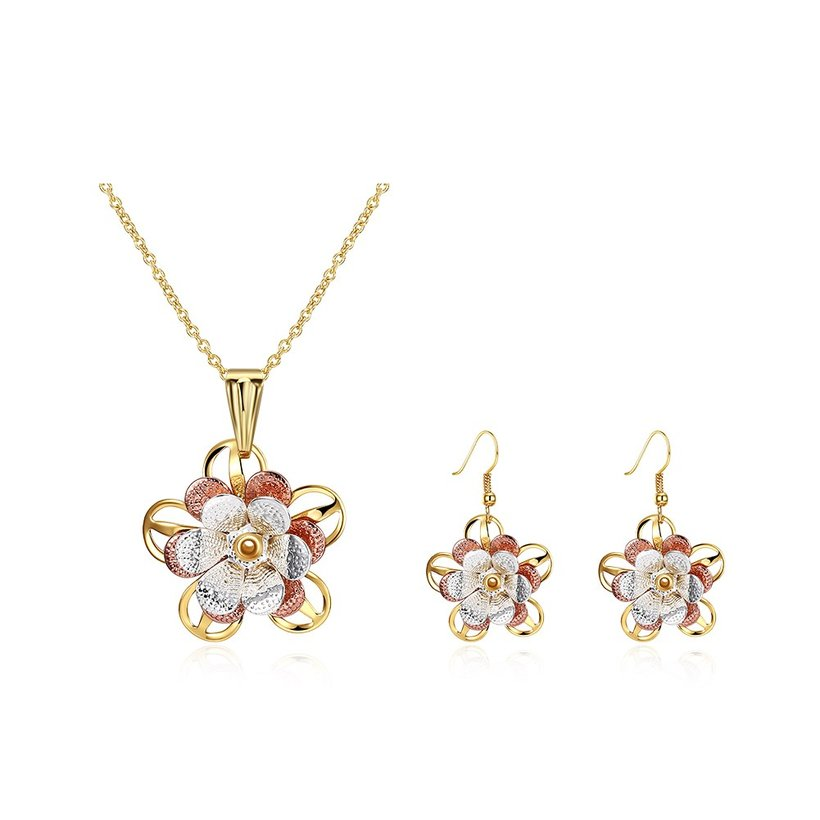 Wholesale Classic Gold Plant Jewelry Set TGGPJS196