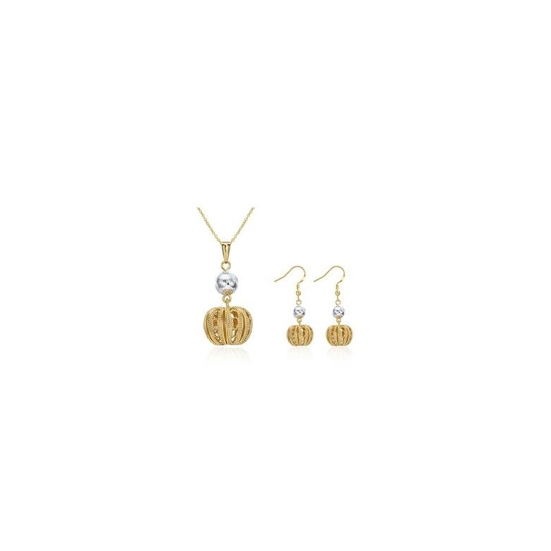 Wholesale Classic Gold Round Jewelry Set TGGPJS224
