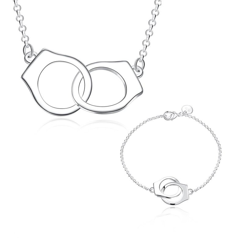 Wholesale Romantic Silver Round Jewelry Set TGSPJS066