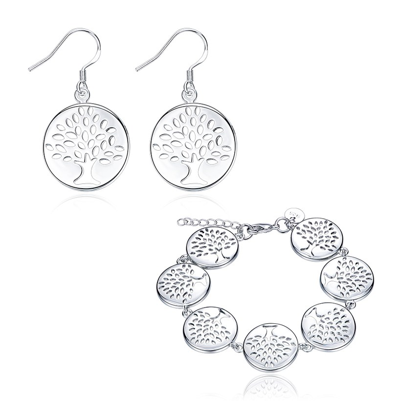 Wholesale Trendy Silver Plant Jewelry Set TGSPJS457
