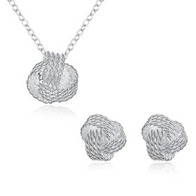 Wholesale Trendy Silver Round Jewelry Set TGSPJS067
