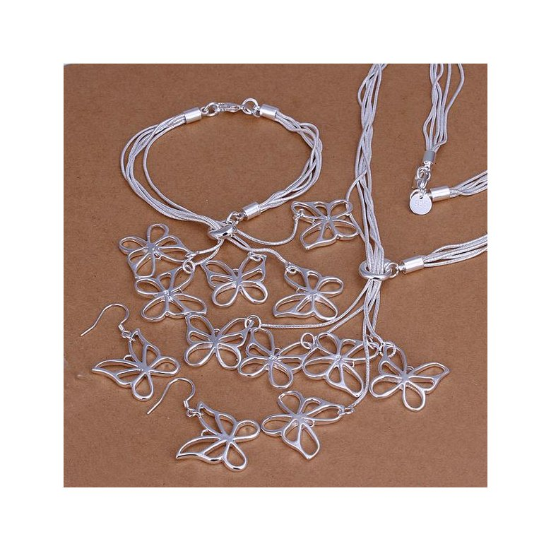 Wholesale Trendy Silver Insect Jewelry Set TGSPJS300