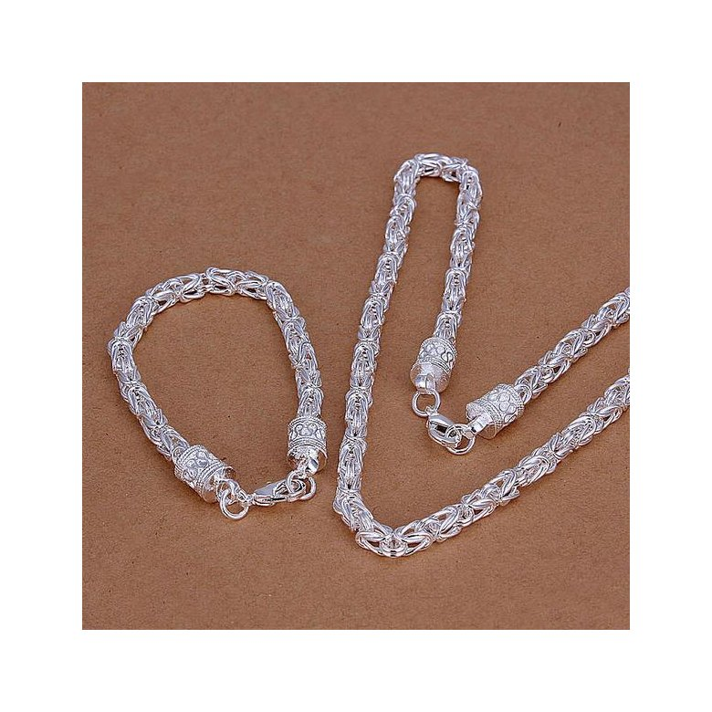 Wholesale Trendy Silver Round Jewelry Set TGSPJS322