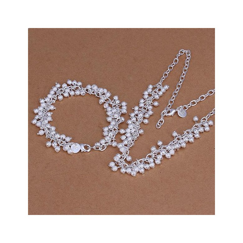 Wholesale Trendy Silver Ball Jewelry Set TGSPJS482