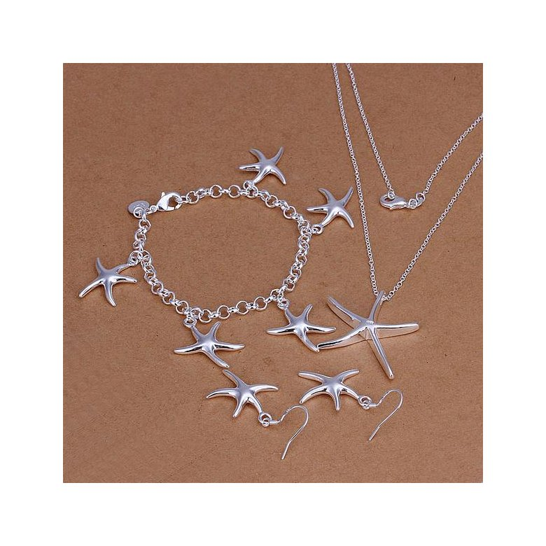 Wholesale Trendy Silver Star Jewelry Set TGSPJS531