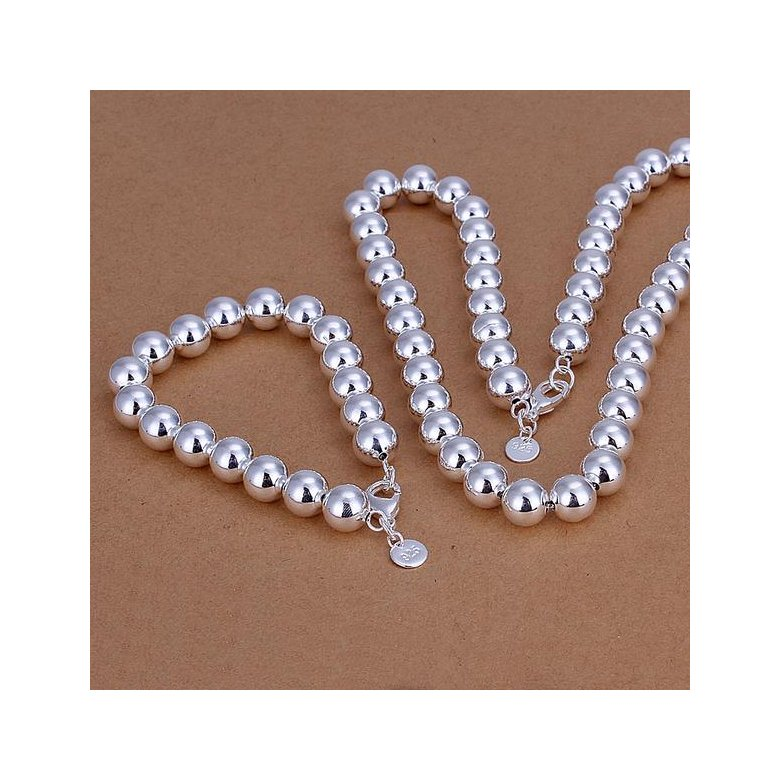 Wholesale Romantic Silver Ball Jewelry Set TGSPJS593