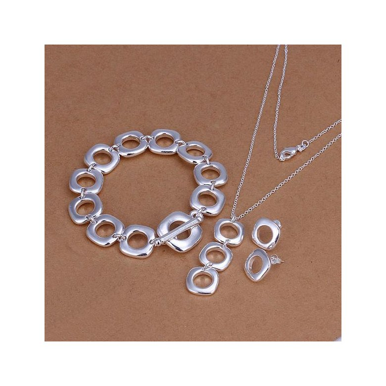 Wholesale Trendy Silver Round Jewelry Set TGSPJS609