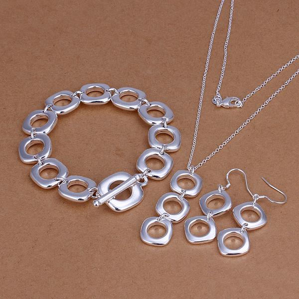 Wholesale Trendy Silver Round Jewelry Set TGSPJS613
