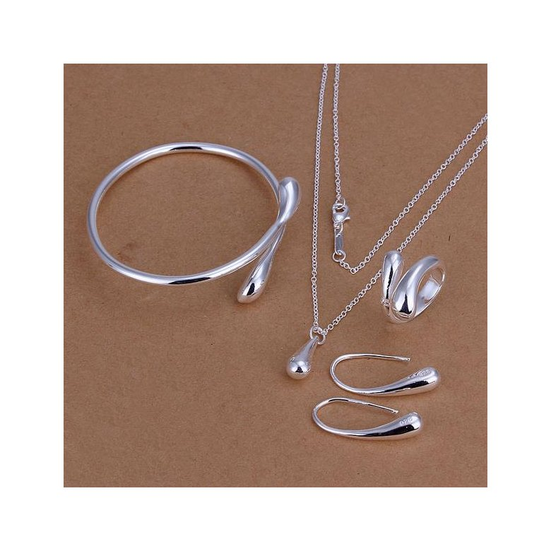 Wholesale Trendy Silver Round Jewelry Set TGSPJS716