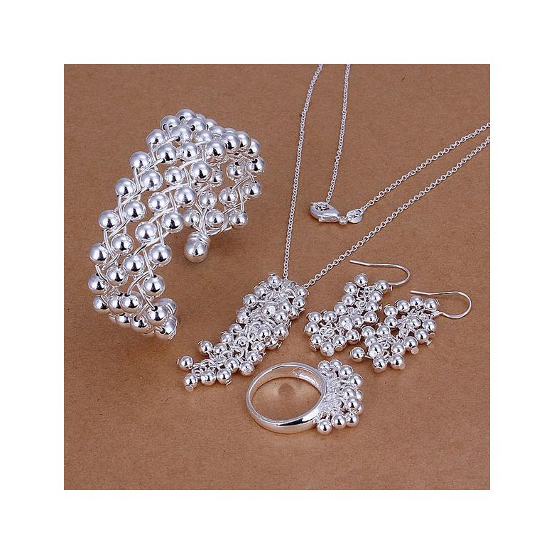 Wholesale Trendy Silver Round Jewelry Set TGSPJS796