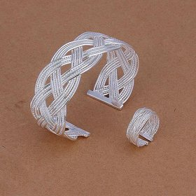 Wholesale Trendy Silver Round Jewelry Set TGSPJS050
