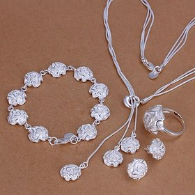 Wholesale Trendy Silver Plant Jewelry Set TGSPJS064